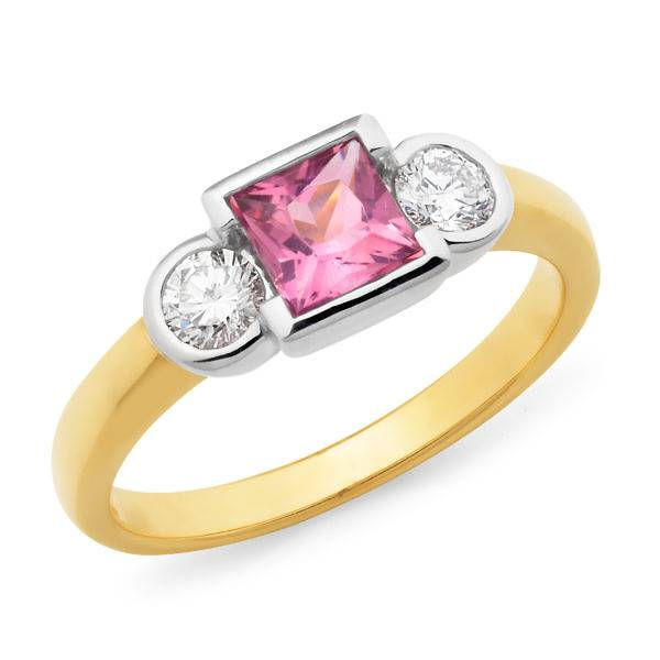 square tourmaline ring