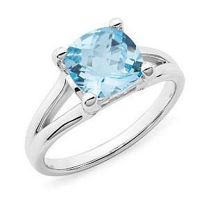 Blue topaz dress ring