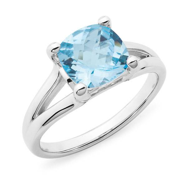 Blue topaz dress ring