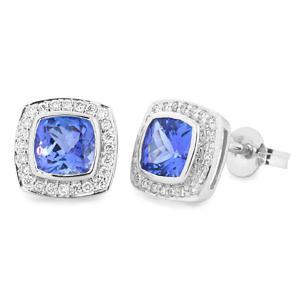 square tanzanite & diamond ring