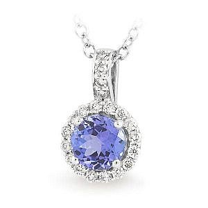 round tanzanite pendant