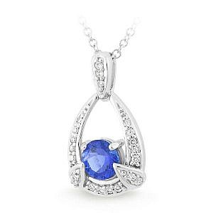 tanzanite drop pendant