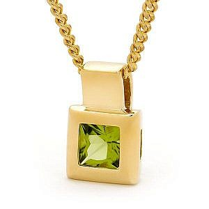 peridot pendant