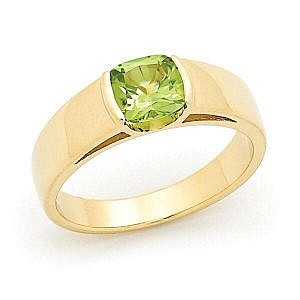 Peridot end set ring