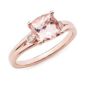 Morganite & diamond dress ring