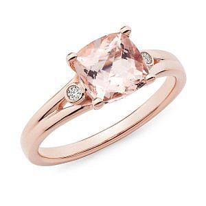 Morganite & diamond dress ring