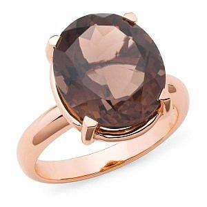 Smokey quartz dress ring