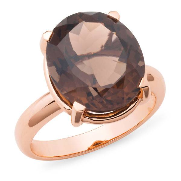 Smokey quartz dress ring