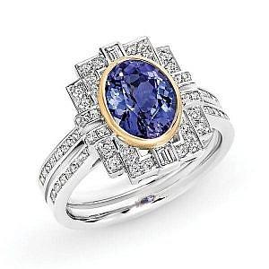 Tanzanite & diamond dress ring