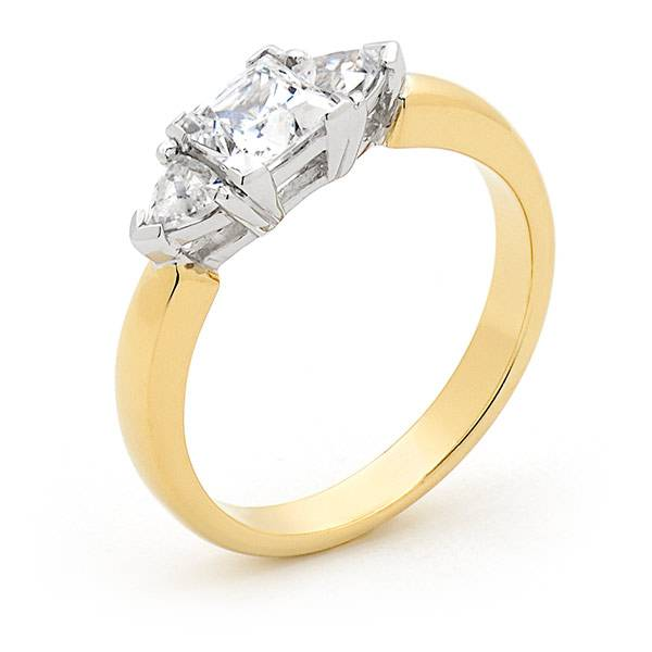 Diamond corner set engagement ring