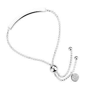 Najo silver bar bracelet