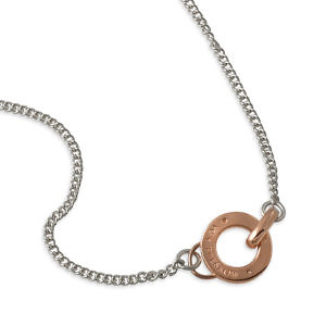 Von Treskow curb necklace with rose disc