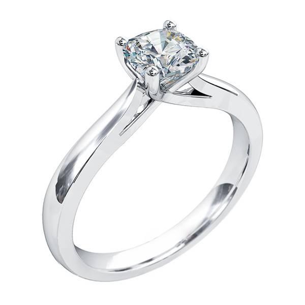 Mazzone round diamond solitaire ring