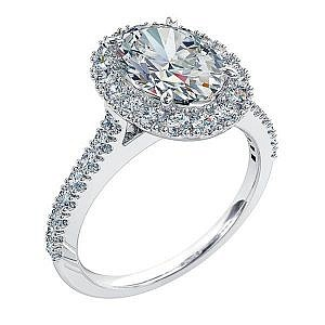Mazzone oval cut diamond halo ring