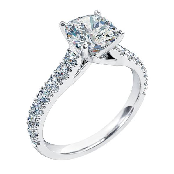 Mazzone cushion cut diamond ring