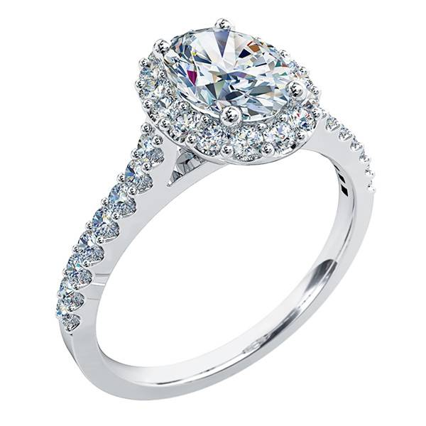Oval Cut Diamond Halo Engagement Ring Andrew Mazzone Jewellers Adelaide Engagement Wedding Rings