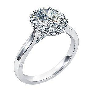 Mazzone oval diamond halo ring