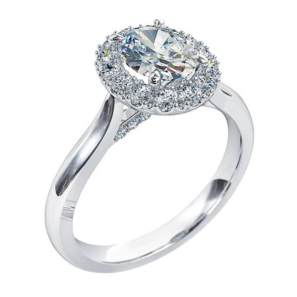 Mazzone oval diamond halo ring