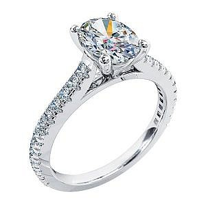 Mazzone oval diamond ring