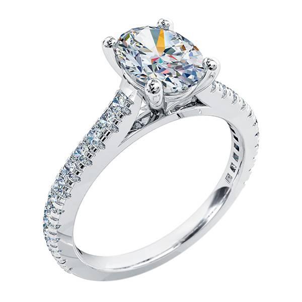 Mazzone oval diamond ring