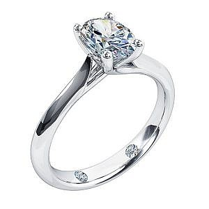 Andrew Mazzone Oval diamond solitaire ring