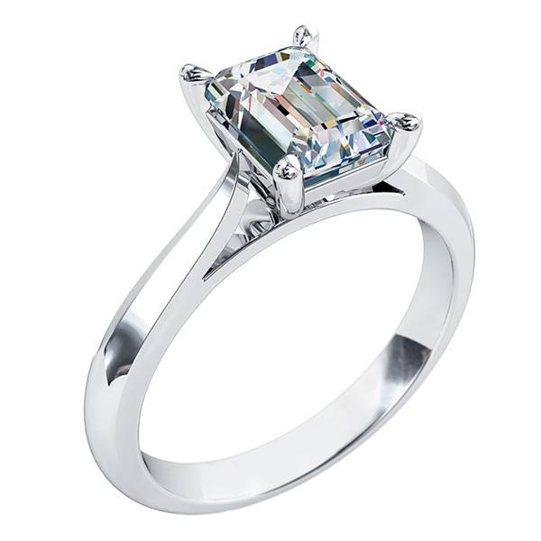 Emerald Cut Diamond Solitaire Engagement Ring Andrew Mazzone Jewellers Adelaide Engagement Wedding Rings