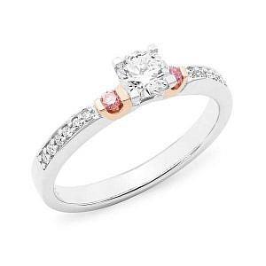 Diamond claw set halo ring