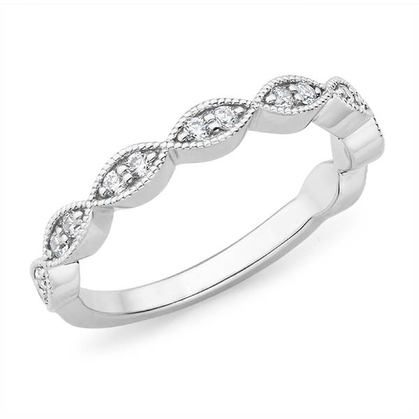 Mazzone diamond fancy style wedding band