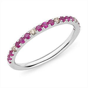 Mazzone ruby & diamond band