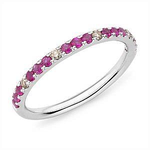 Mazzone ruby & diamond band
