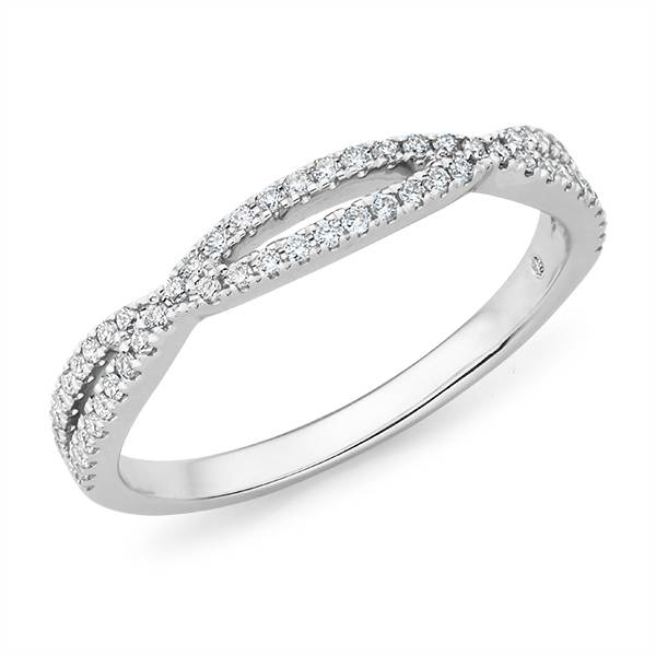 Mazzone diamond twist wedding ring