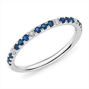 Mazzone sapphire & diamond band