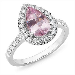 Mazzone pear spinel & diamond ring