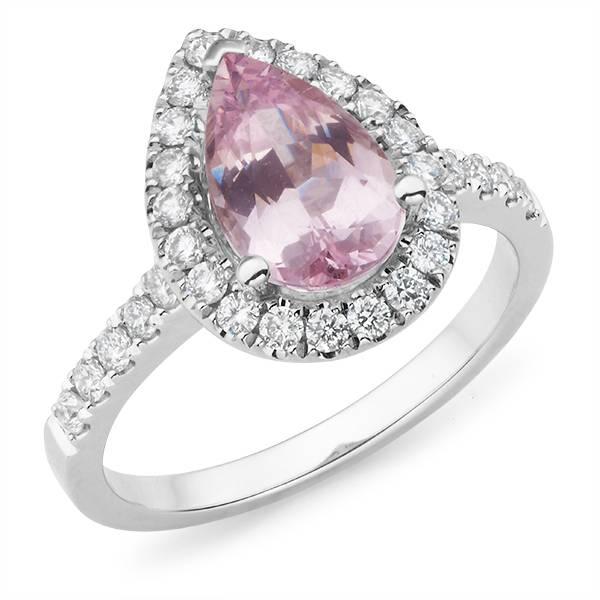 Andrew Mazzone pear sapphire & diamond ring