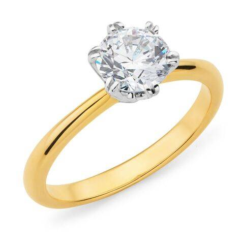 Mazzone solitaire diamond ring