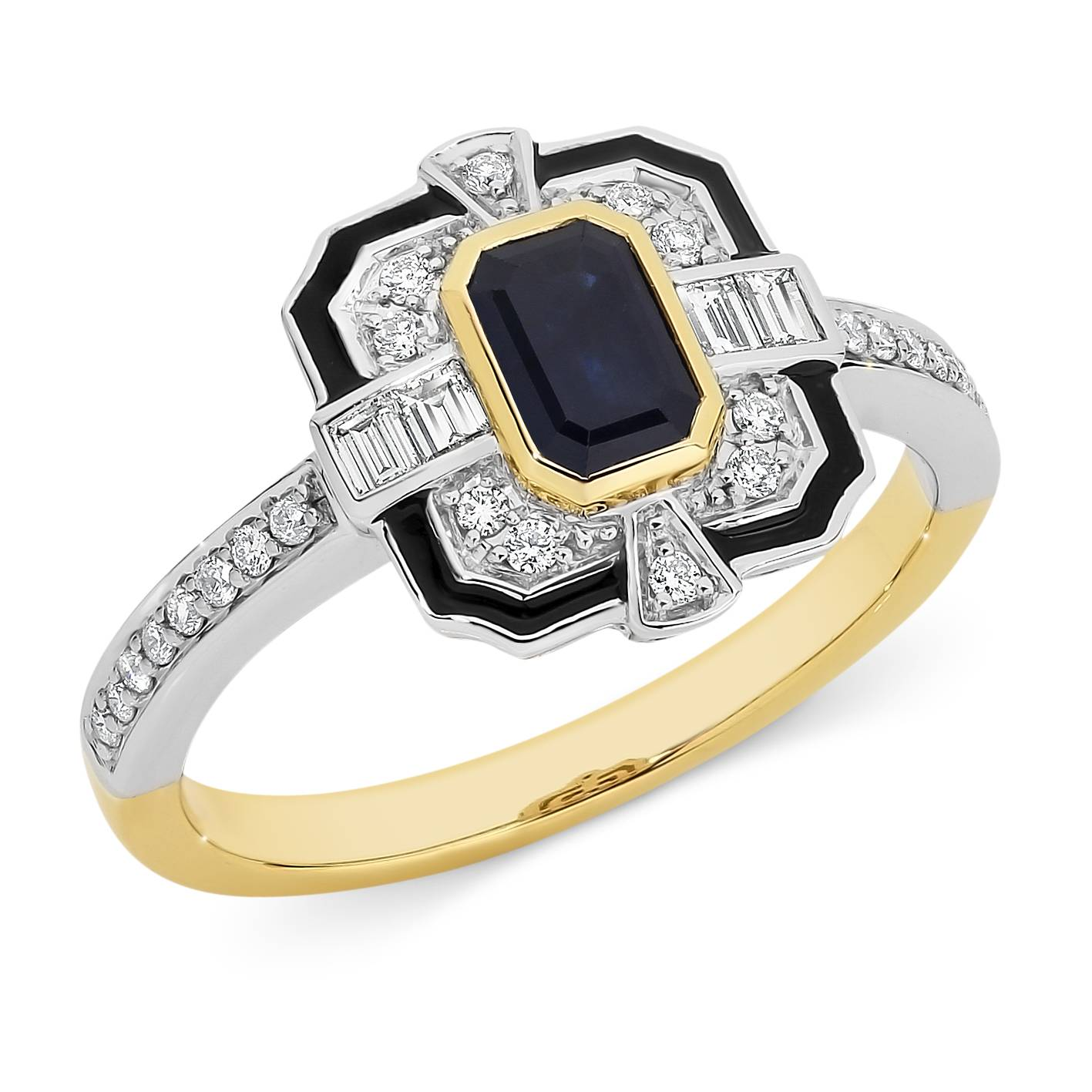 Emerald cut sapphire & diamond ring - Andrew Mazzone ... - photo#22