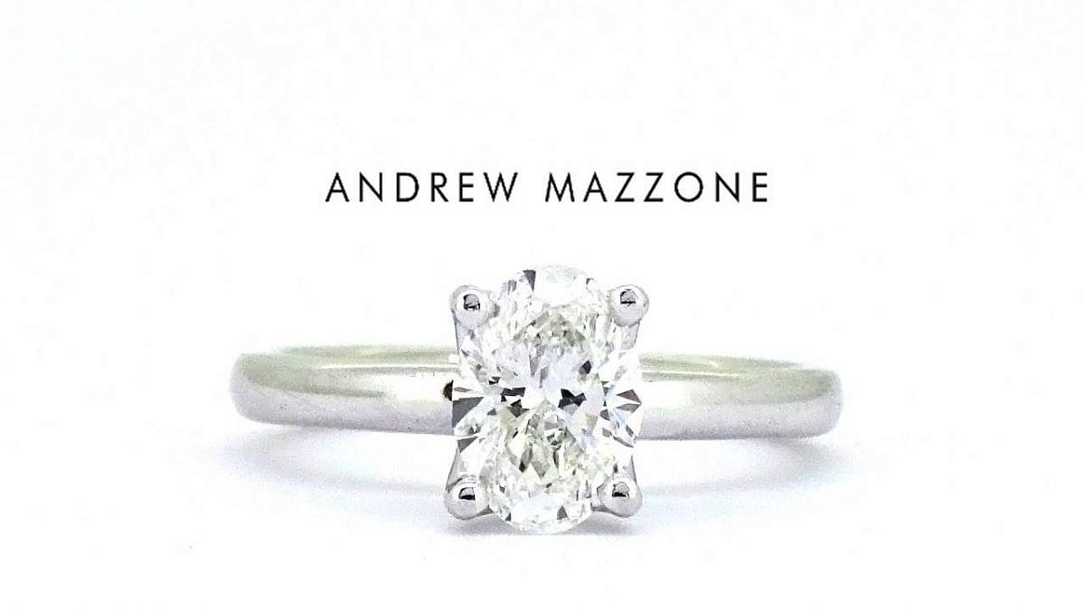 Andrew Mazzone oval engagement ring