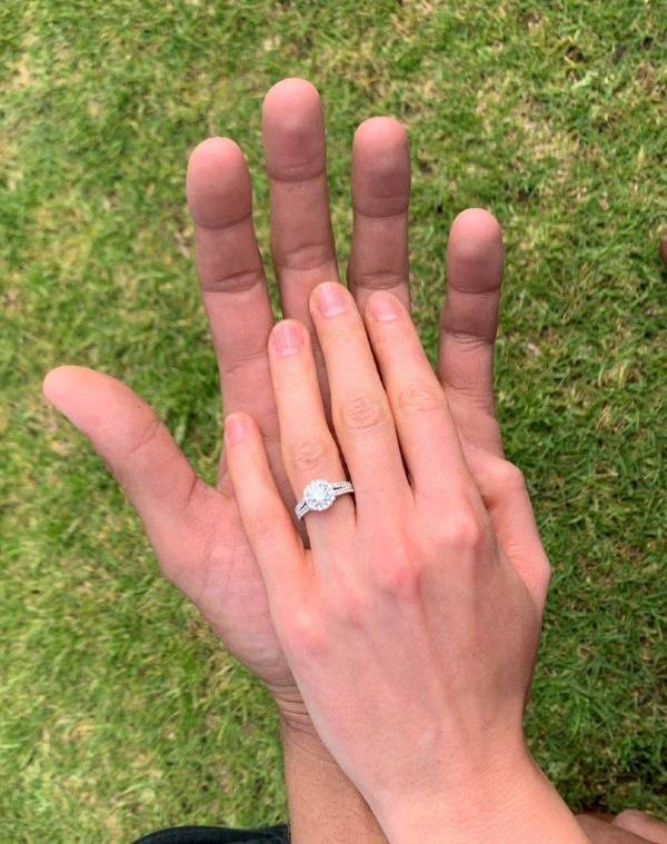 Proposal story with engagement ring by Andrew Mazzone.