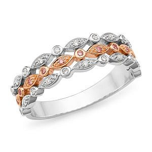 MAZZONE 3 TONE DIAMOND ROW RING