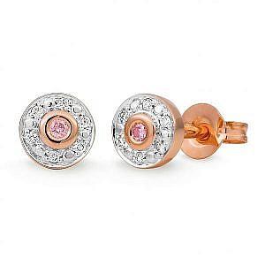 Mazzone Pink & White diamonds bezel set rose gold