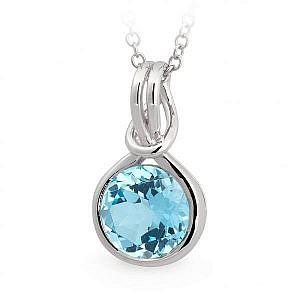 Mazzone blue topaz pendant